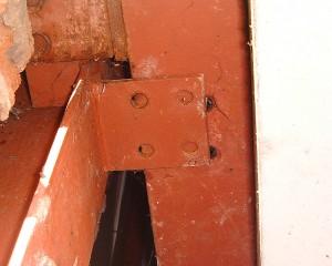 Steel frame failure